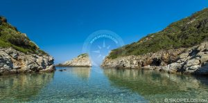 skopelos beaches, ai giannis spilia, best beaches in skopelos, by boat only