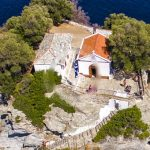 Skopelos Beaches Agios Ioannis Cave Aerial Photo