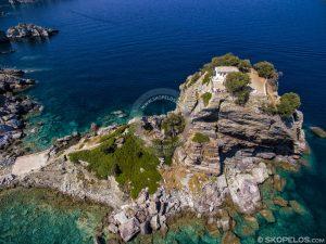 Skopelos Churches Agios Ioannis Aerial Photo