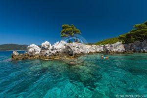 amarantos beach skopelos, utazás skopelos-ba, mantoudi-tól skopelos-ig