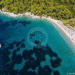 Skopelos Strande Kastani Beach Lugfoto