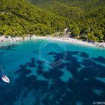 Skopelos Strande Kastani Beach Luftfoto