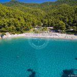 Плажове Скопелос Въздушна снимка на плажа Кастани