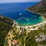 Plaže Skopelos Zračna fotografija Limnonari Beach