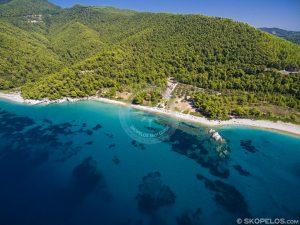 Skopelos Milia, plajele Skopelos