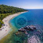 Skopelos Playas Milia Beach Foto aérea