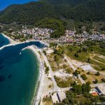 Skopelos Elios Neo Klima Village Port Aerial Photo