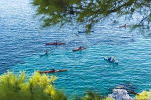 actividades al aire libre skopelos, recreación skopelos, kayak skopelos