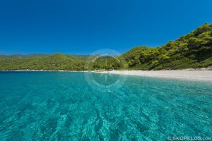 Skopelos Milia Beach, skopelos yaşıl ada