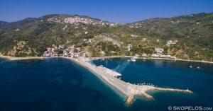 пристанище loutraki, пристанища skopelos, от agios konstantinos, стигайки до skopelos