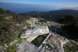 sentoukia skopelos, archaeological sites skopelos, carved tombs, skopelos sightseeings