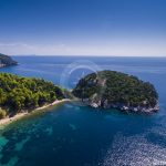 Skopelos Stafilos Tumb Rock Aerial Photo