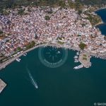 Skopelos Town Port Aerial Photo