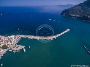 Portul orașului Skopelos, de la mantoudi la skopelos, turismul skopelos