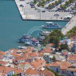 Пристанище от въздушна снимка в град Скопелос