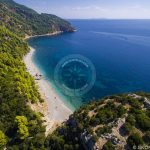 Zračna fotografija na plaži Skopelos Velanio