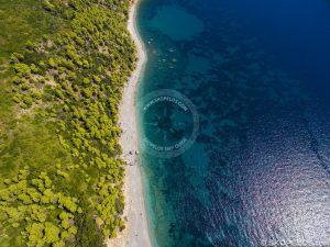 Skopelos Velanio Beach Aerial Photo
