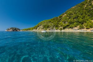 Skopelos Velanio ، سواحل Skopelos