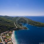 Skopelos Villages Beaches Panormos Aerial Photo
