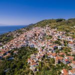 Skopelos Villages Glossa Village Aerial Photo