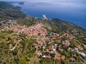 glossa Skopelos, Aldeias Skopelos, vila glossa Skopelos