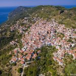 Skopelos Landsbyer Glossa Village Aerial Photo