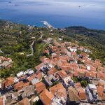 Skopelos Villages Glossa Aerial Photo