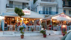ο μώλος σκόπελος, λιμάνι σκόπελος, εστιατόρια και ταβέρνες σκόπελος