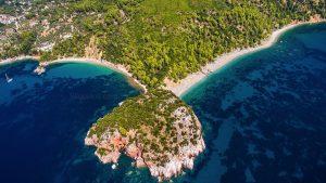 Skopelos Island Strände, Stafilos Velanio-Strände, FKK-Strand Skopelos