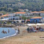 Skopelos ammos çimərlik skopelos qəsəbəsi