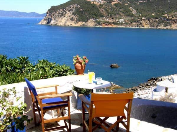 Kohvik Baar Thalassa skopelos, skopelos kohvikud, skopelos päikeseloojang, skopelos ajaveeb